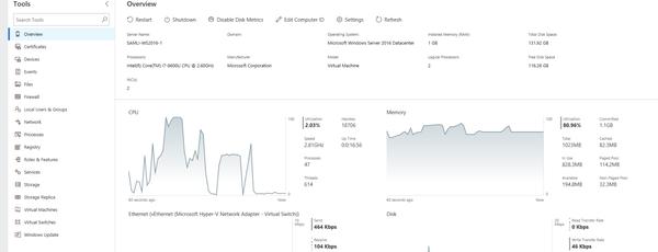 "Projet ""Honolulu"" : Windows Admin Center"